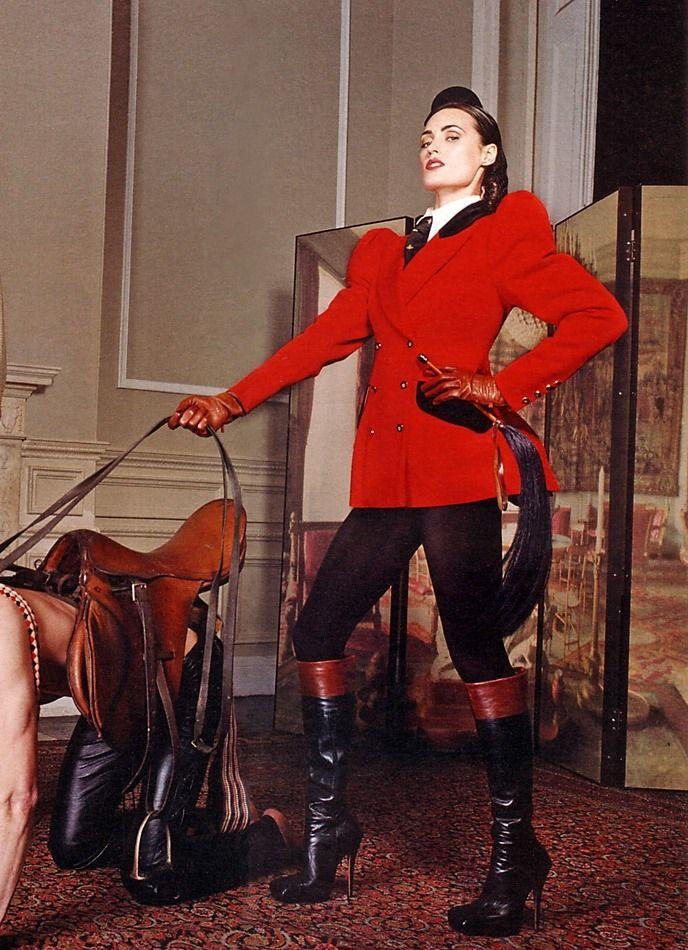 Mistress riding pony