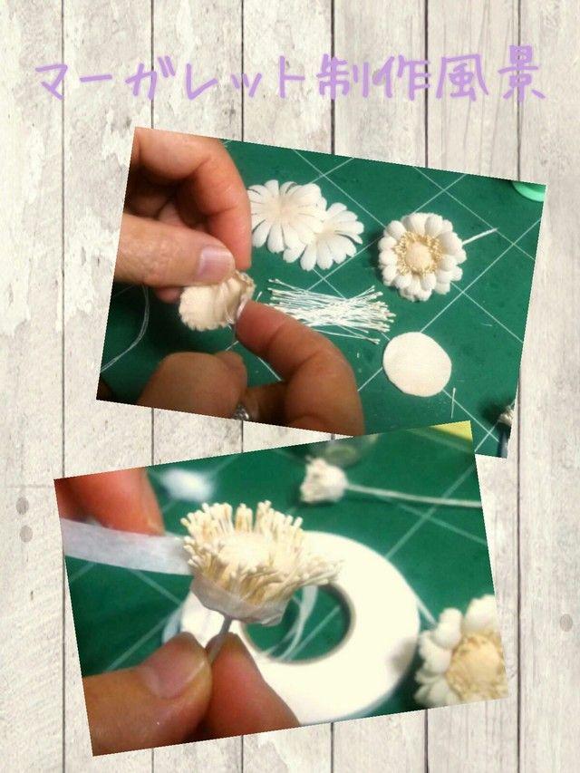 【ウェディング参考作品】花嫁のための紅茶染め布花ボンネ