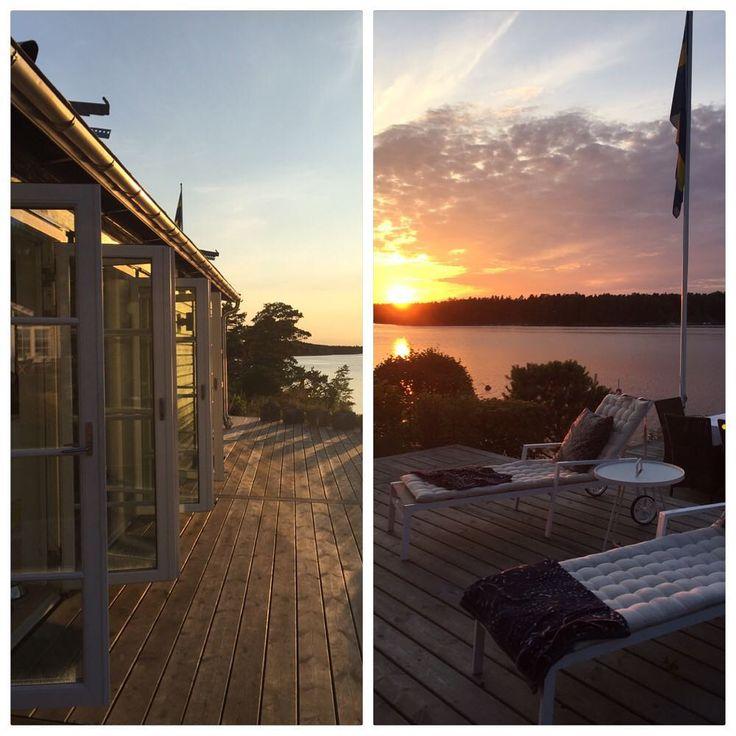 Regniga ☔️ dagar, men ljuvliga kvällar. Men tar gärna emot lite flera ☀️ dagar. Älskar ljuset här ute! #landet #skärgården #stockholmsskärgård #galtholmen #sommarkväll #paradiset #semester