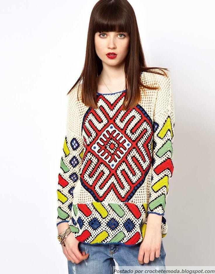 Crochetemoda: Túnica de Crochet ¡I N C R E I B L E!!!CROCHET AND TRICOT INSPIRATION: http://pinterest.com/gigibrazil/crochet-and-knitting-lovers/