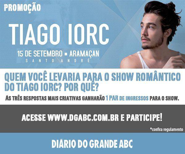 Quer ganhar 1 par de ingressos para o show do Tiago Iorc? Para participar da promoção confira regulamento e preencha o formulário:http://ift.tt/2wOmtWR  #promoção #santoandré #clubeatleticoaramaçan #aramaçan #tiagoiorc #ingressos #show #cultura #lazer #arte #música #dgabc #diariodograndeabc@tiagoiorc