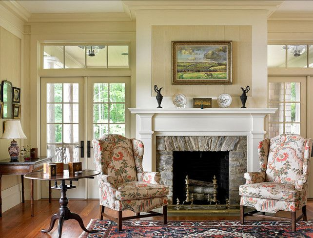 Traditional Living Room Design Love The Stone Fireplace Surround