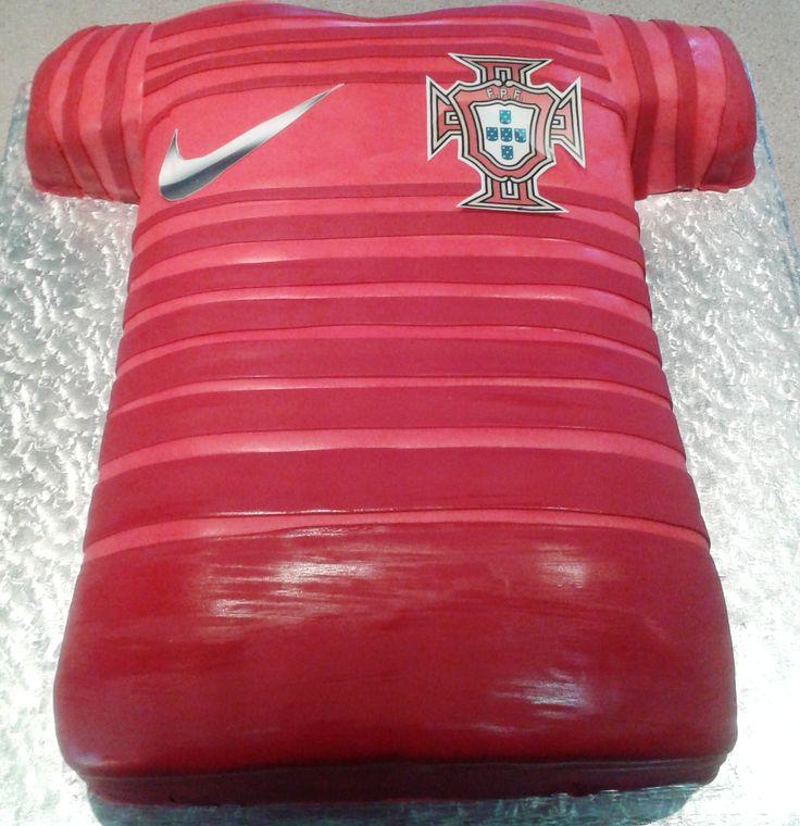 Portugal Soccer Shirt Cake