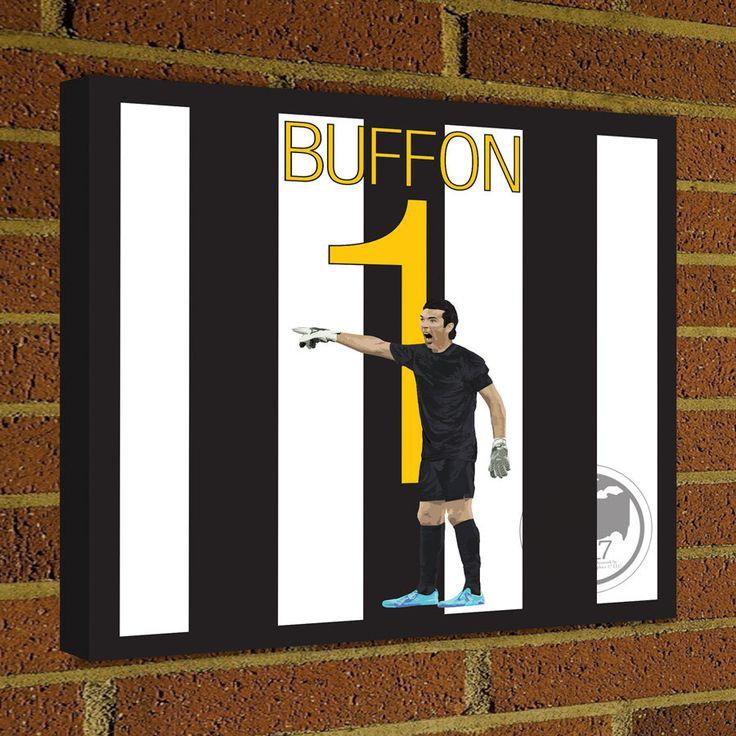 Juventus Buffon Square Canvas Wrap Soccer Art Print -  Juventus Soccer Poster wall decor home decor, Buffon print, Italy poster by Graphics17 on Etsy