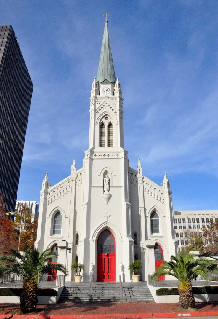 St. Joseph Cathedral in downtown Baton Rouge, Louisiana,
