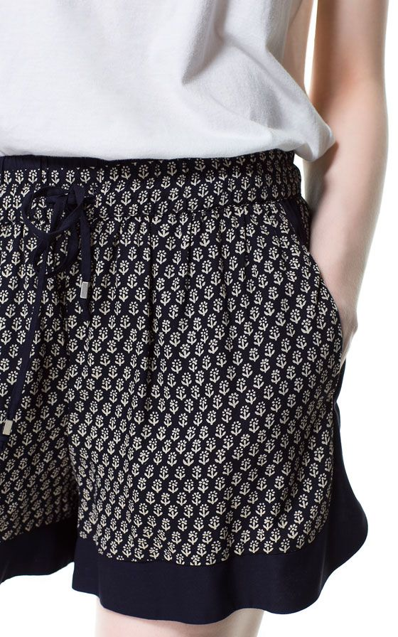PRINTED SHORTS - Shorts - Woman   ZARA United States $59.90 onsale for $39.99