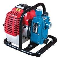"The pump is a light weight self-priming engine driven pump supplied ready to operate complete with hose fittings and suction strainer. The pump is characterised by:  · Heads to 22 metres · Flows to 116 litres per minute · Suction to 7 metres. · 1"" BSP female ports · Carry frame · Rubber mounting feet"