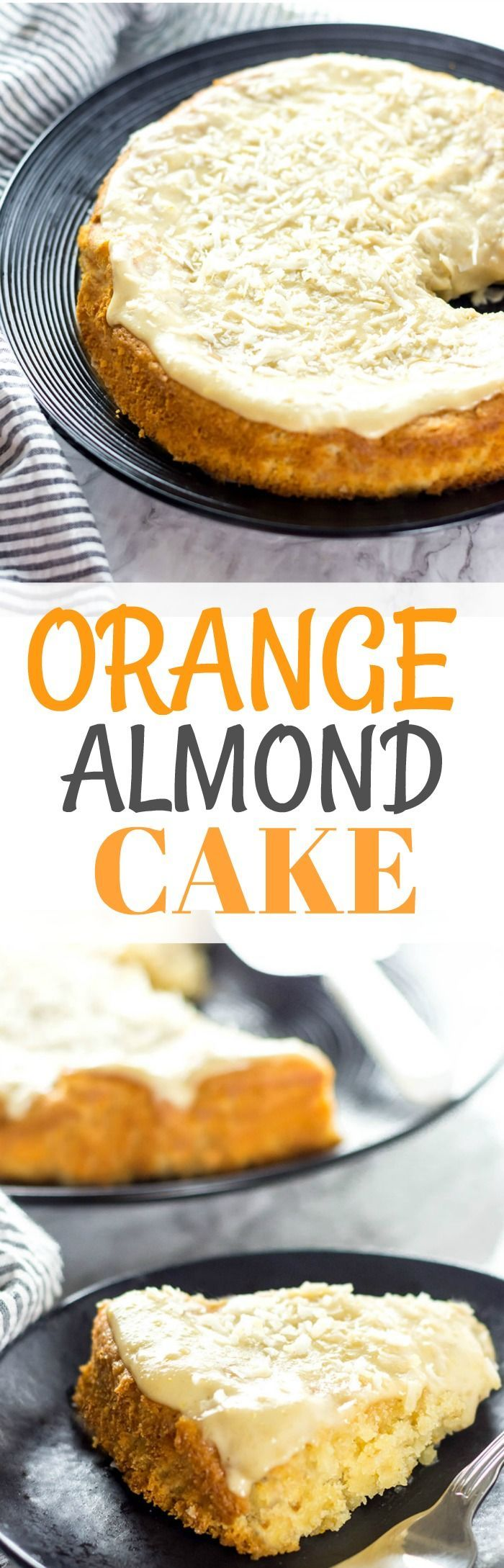 Orange Almond Cake (Vegan, Gluten-free) #vegan #glutenfreerecipes #cake #healthiersteps