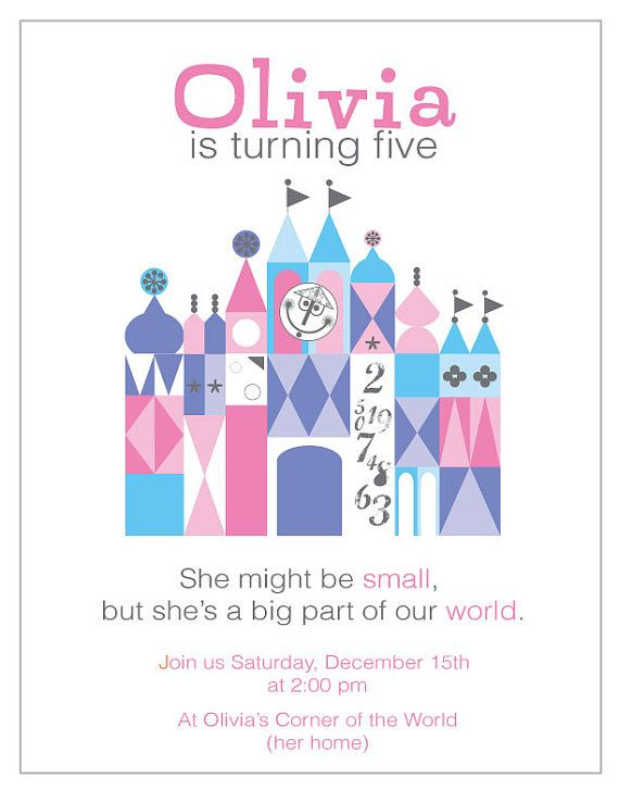 It's a Small World Party Invitation by oleanderandpalm on Etsy, $10.00