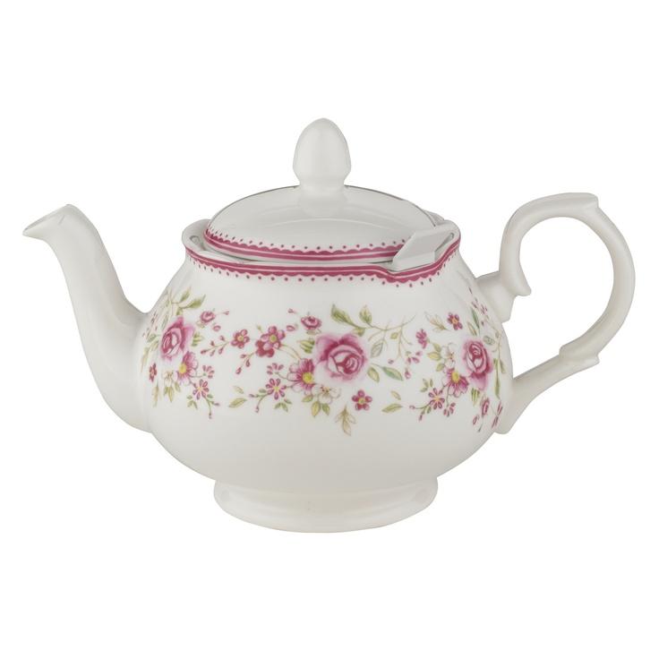Novelty Tea Kettles ~ Vintage rose cup chatsford filter teapot teapots