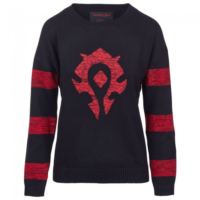World of Warcraft Horde Knitted Striped Sweater
