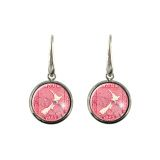 1923 New Zealand Postage Stamp Map Earrings in a range of hypoallergenic styles