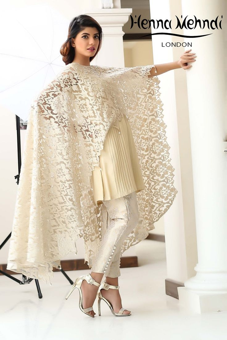 Show details for Gold Embroidered Cape Outfit