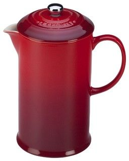 Le Creuset 27 oz. French coffee press is available in two colors: Cherry Red and Truffle Founded in 2002 we are a trusted coffee machine supplier that