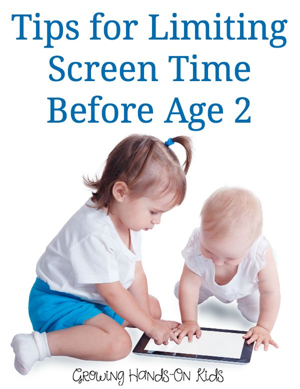 Tips for Limiting Screen Time Before Age 2 | Screen time ...