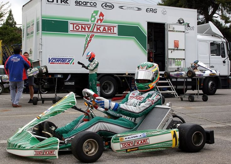 Filippos Kalesis practice day with his new Tonykart EVK
