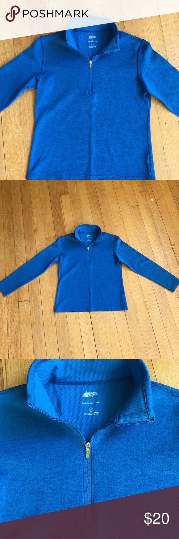 Kids Mountain Equipment Co-op long-sleeved shirt Zip-neck pullover. 100% recycled polyester shirt. Great for layering on cooler days. In excellent condition. Comes from a smoke-free, pet-free home. Mountain Equipment Co-op Shirts & Tops