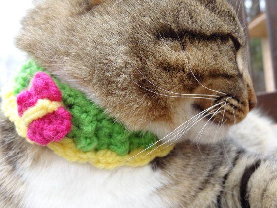 Custom Cat Collar Pet Collar Butterfly by iheartneedlework