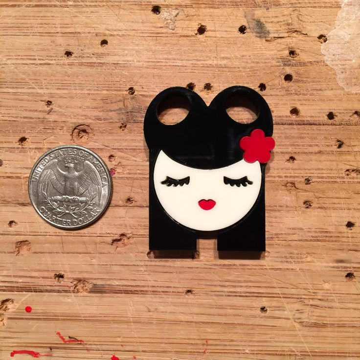 Mini Valley of the Dolls: AVA layered acrylic brooch by Baccurelli on Etsy https://www.etsy.com/listing/232815330/mini-valley-of-the-dolls-ava-layered