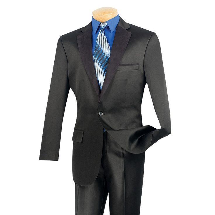 MEN'S CASUAL SUIT JACKET BLACK FASHION SPORT COAT CLASSIC FIT