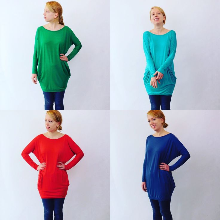 Tunic dress in many different colours.