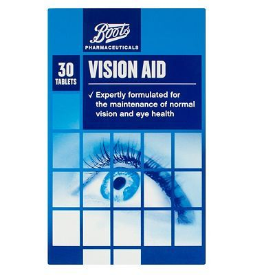 #Boots Pharmaceuticals Boots Vision Aid - 30 tablets 10169492 #28 Advantage card points. FREE Delivery on orders over 45 GBP. (Barcode EAN=5045091765730)