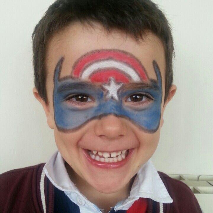 Pintacaras Capitán América