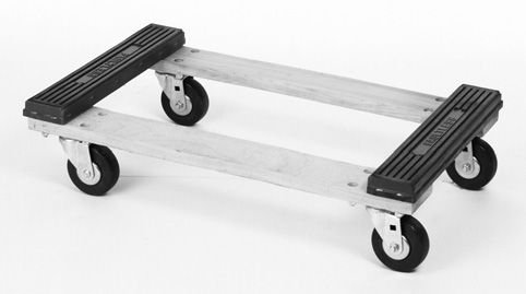 "VisionMasters offers a large selection of hardwood dollies to assist in a variety of dolly applications. These economical and functional products will serve your needs for years to come. These dollies are popular with movers and office equipment suppliers.  FEATURES  SERIES VMNT21-002 OPEN FRAME DOLLY WITH RAISED ENDS  • Frame constructed of 1-1/8"" domestic hardwood stock  • Dolly side frames are routered for easier handling  • Raised ends help suspend load"