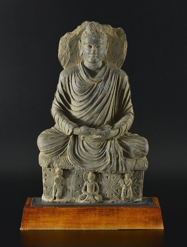 Bouddha, Gandhara, période Kushan, Vallée de Swat, , I IIIe s, h. 52 cm