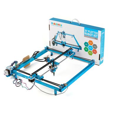 XY-Plotter Robot kit is an arduino robot kit to draw digital artworks on flat surface or laser on wood freely .
