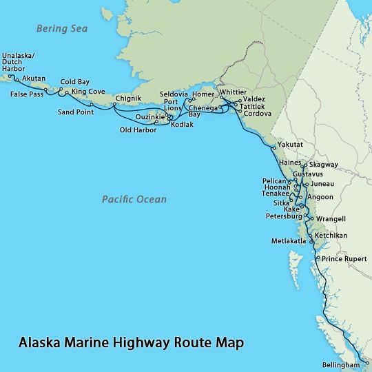 Pelican Bay Alaska Map.Alaska Marine Highway Map Alaska Alaska Alaska Travel Juneau