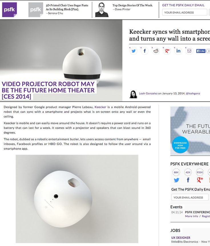"""@PSFK """"KEECKER may be the future Home Theater"""""""