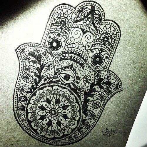 Hamsa/ Fatima hand tattoo