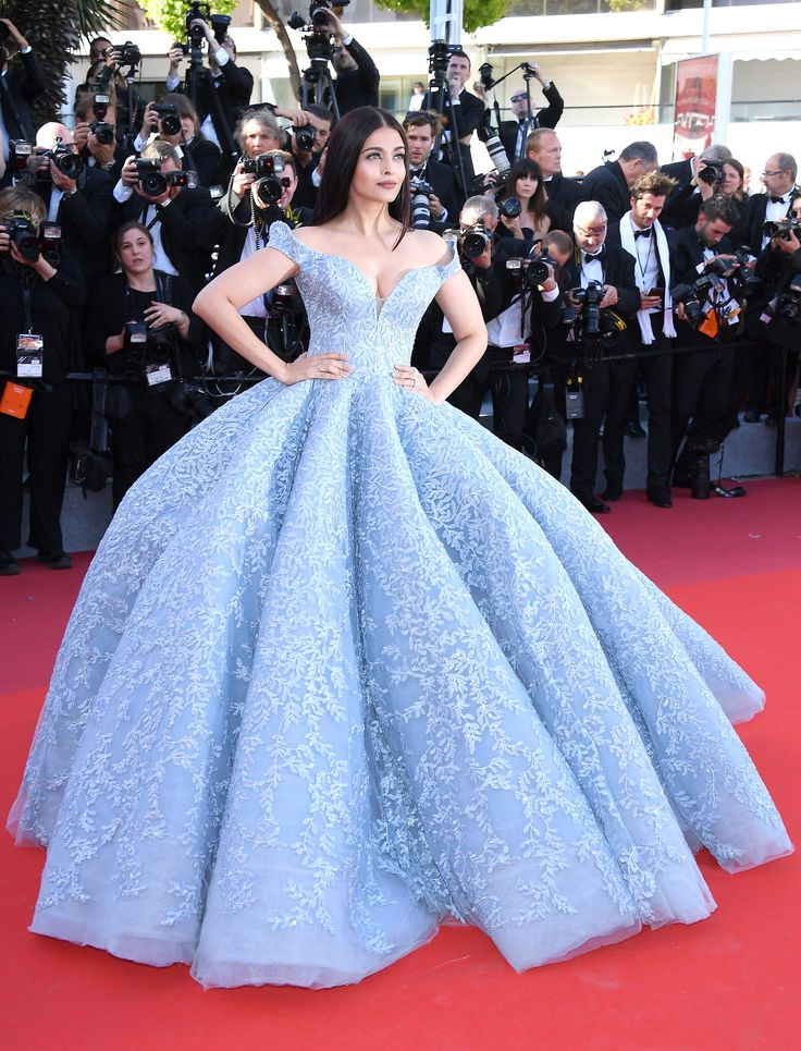 CANNES, FRANCE - MAY 19: Aishwarya Rai Bachchan attends the 'Okja' screening during the 70th annual Cannes Film Festival at Palais des Festivals on May 19, 2017 in Cannes, France. (Photo by Venturelli/WireImage) via @AOL_Lifestyle Read more: https://www.aol.com/article/entertainment/2017/05/19/cannes-film-festival-day-3/22099504/?a_dgi=aolshare_pinterest#fullscreen