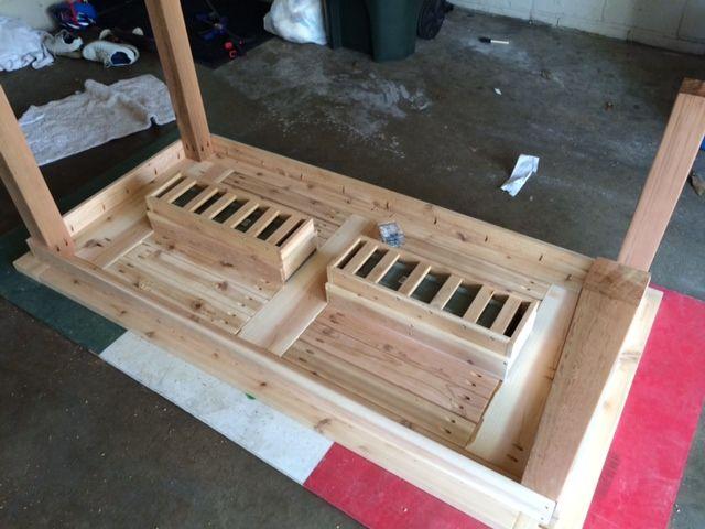 Patio Deck Cooler Plans Cedar Table W Hidden Coolers
