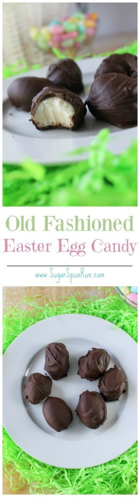 Old fashioned Easter Egg Candy (made with potatoes!) -- SugarSpunRun.com