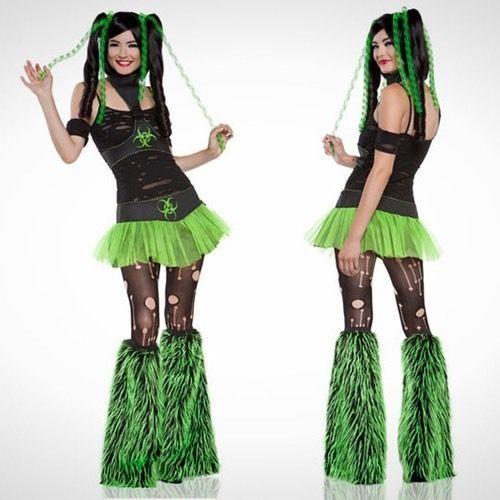 "LIP SERVICE Costume Vault ""Miss Cyanide"" top, skirt, legwarmers"