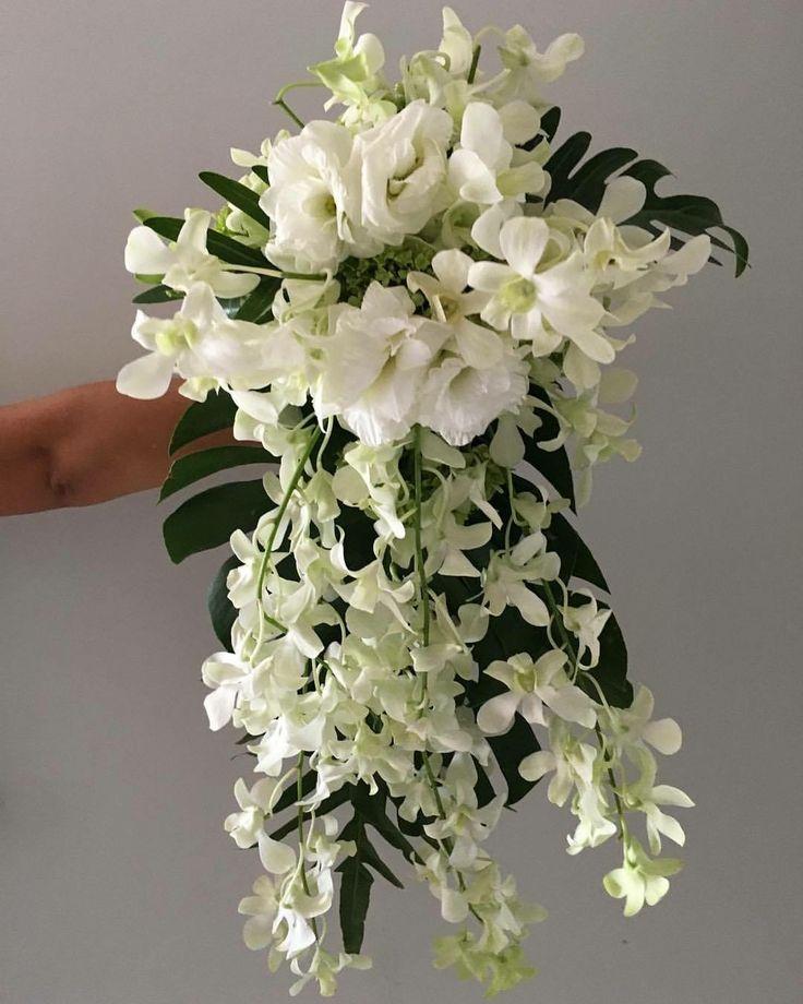 CBR433 wedding Riviera maya white fletes for cascading bouquet/ ramo flores blancas en cascada