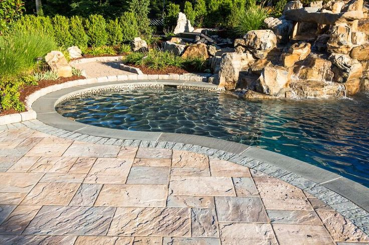 Terra Care Inc updated this backyard with fabulous Cambridge Pavingstones and Wallstones with ArmorTec. Create your new pool patio in 2017 with Cambridge!