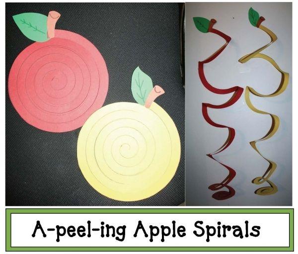 Appelspiraal, eerst appel schillen en dan dit laten knippen