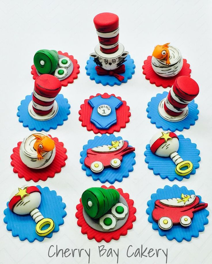 Dr Seuss Baby Shower Cupcake Toppers Love This Set Cherrybaycakery