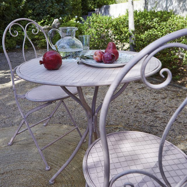Les 25 meilleures id es de la cat gorie table ronde jardin - Table jardin la redoute ...