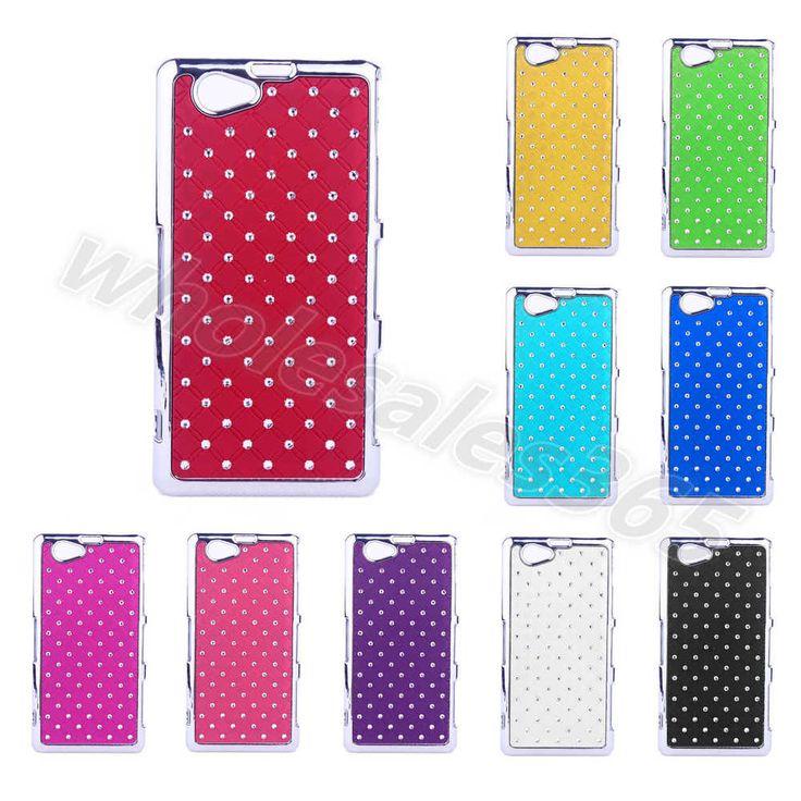 For Sony Mobile Phone Diamond Crystal Hard Bling Chrome Plastic Cover Case Skins #UnbrandedGeneric #BackCaseCoverSkin