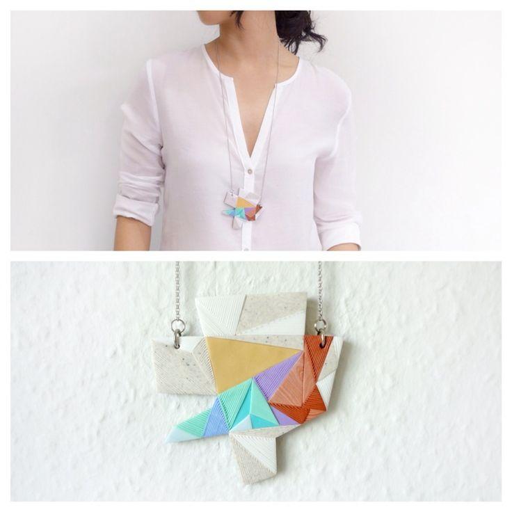 Medium Polymer Clay Necklace