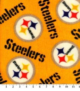 Pittsburgh Steelers-NFL Fleece Fabric & fleece fabric at Joann.com