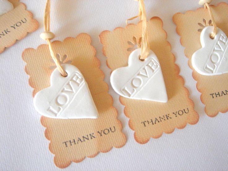 Wedding Shower Favor,Favor Thank you,Rustic Favor Tag,Wedding Ceramic Tags,Baby Shower Favor , Shower Favor,. $24.00, via Etsy.