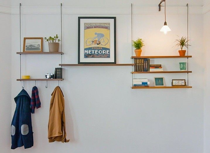 Carlysle Manufacturing Picture Rail Shelving, Remodelista Hanging when walls are too weak