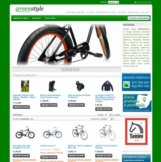 Magento e-commerce for Greenstyle by Sanabre Comunica | #ecommerce #design