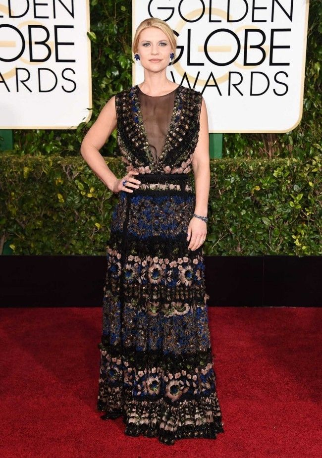 Golden Globes 2015: what they're wearing: Claire Danes in Valentino