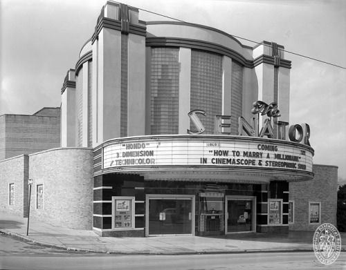Senator Theatre. Durkee Enterprises. 5904 York Road, Baltimore, Maryland ca. 1953 Photograph by the Hughes Company Hughes Company Collection Maryland Historical Society PP30 105-106A-54-1 Open in 1939, The Senator almost saw the end in 2010 when it...